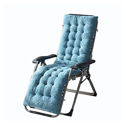 XHNXHN Sun Lounger Kissenpolster Lounge Chair Kissen Velvet Thicken Sessel Sitzkissen Bürostuhl Matratze Massage Pad (Pfauenblau, S (130x50x12cm))