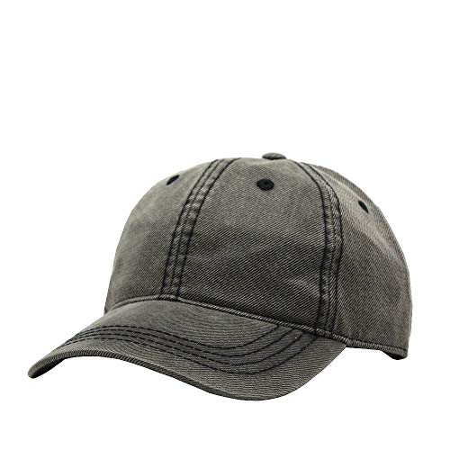 Vintage Year Heavy Washed Wax Coated Adjustable Low Profile Baseball Cap (Gray)