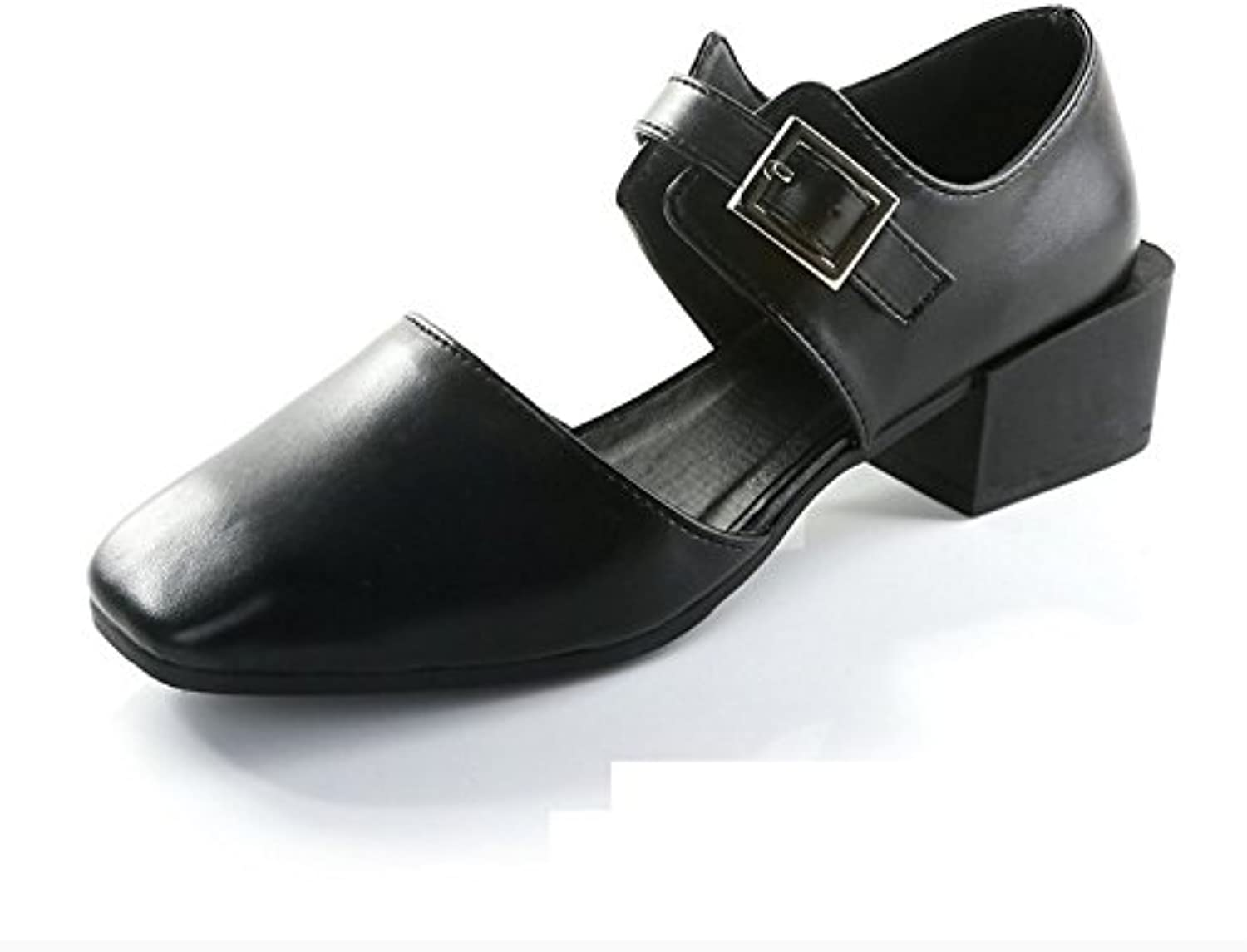 WYMBS Autumn and Winter GiftsFemale Square Head shoes Buckle