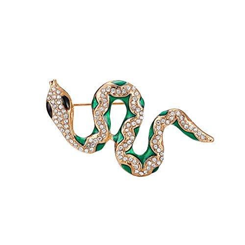 WLLAY Vintage Animal Swirl Snake Brooch Pin Art Deco Style Jewelry Clear Austrian Crystal Jewelry