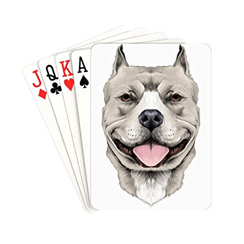 QIAOLII Decks of Playing Cards American Pit Bull Terrier Cards Poker Unique for Kids & Adults Card Decks Games Standard Size