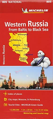 Mapa National Rusia Oeste - Del Baltico al Mar Negro (Mapas National Michelin)