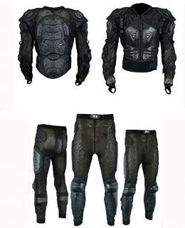 Bikers Gear Australia Limited intrecciato moto taglia L in pelle scamosciata colore: Nero