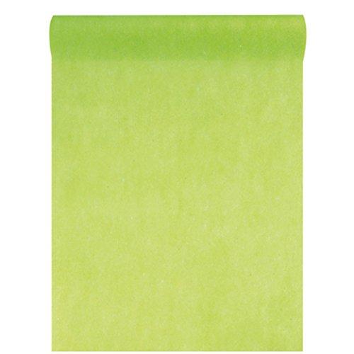 Vlies-Stoff 30cm (25m lang) Tischläufer Deko-Vlies Party Hochzeits-Dekoration (hellgrün)
