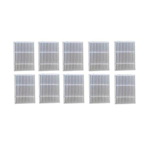 Meijunter 10PCS Hepa Filtre pour Proscenic Balayeuse Intelligente Aspirateur P1 P1S P2 P2S P3 MC65 MC70 Bluesky,Remplacement Nettoyeur Filtre Net Kit