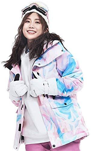 LSZ Veste de Ski imperméable Veste de Ski imperméable Femmes Colorful Veste Snowboard Coupe-Vent de Ski Alpinisme Veste de Costume d'hiver (Couleur: D, Taille: XL)