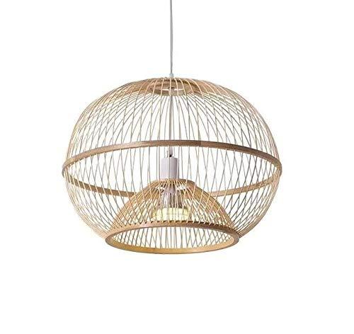 Fine Asianliving Deckenleuchte Pendelleuchte Beleuchtung Bambus Lampenschirm Handgefertigt - Sisley Pendelleuchte Beleuchtung Bambus Lampenschirm Geflochten Lampe Belechtung Rotan