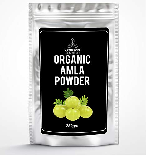 Organic Premium Amla Fruit Powder (250g) | Indian Gooseberry | Gluten-Free | Raw | Vitamin C | Hair Care & Skin Care | High in Vitamin C