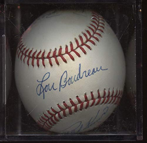 Hall of Famers Signed ONL White Baseball 8 Signatures Hologram - Autographed Baseballs
