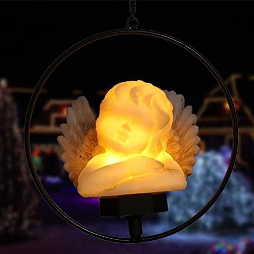 ZEREA Luz solar del ángel, luz LED impermeable del césped para la decoración del jardín al aire libre, iluminación de la estaca decorativa