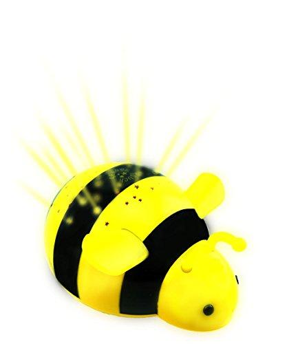 """Lumitusiルミツシ「""""タッチ式でお手入れカンタン"""" トワイライト・コンステレーション(星座)・ギャラクシー(銀河系)・星の蜂 プロジェクション・ナイトライト(黄)」"""