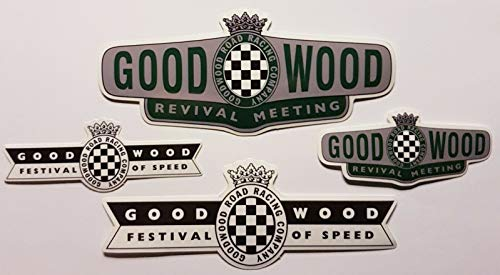 Goodwood 2x Revival and 2x Festival of Speed Vinyl Stickers