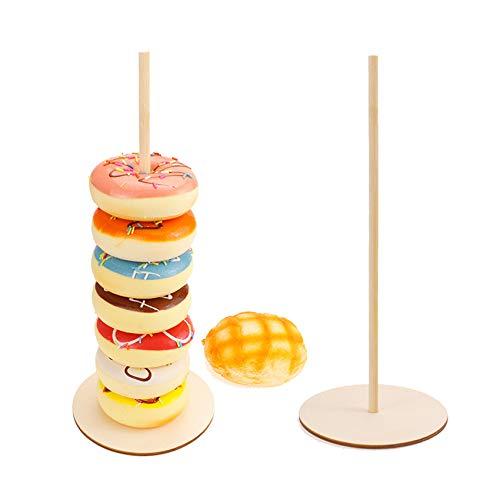 unknow Padokls Donut Stands Abnehmbare Donuts Display Stand für Hochzeitsgeburtstagsfeier Treat Display Corner Decor