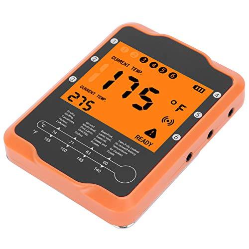 Emoshayoga Termometro, 16,1x3x1,7 cm di Lettura Rapida e accurata Controllo Intelligente delle Applicazioni Termometro Digitale Forniture per la Cottura al Barbecue