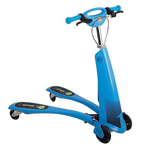 Cheapest Prices! Lcxliga Scooter, Children's Scooter 3-Wheel Swing Car (Suitable for 1-12 Children)
