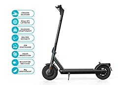 """ODYS αlpha X10 Faltbarer E-Scooter mit Straßenzulassung (max. Geschwindigkeit 20 km/h, bis zu 30 km Reichweite, max. Belastung 120 kg, 10"""" Luftreifen, Display mit Geschwindigkeits-/Akkustandanzeige)"""