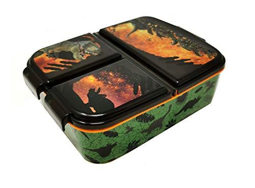 Theonoi Kinder Brotdose / Lunchbox / Sandwichbox wählbar: Frozen PJ Masks Spiderman Avengers - Mickey – Paw aus Kunststoff BPA frei - tolles Geschenk für Kinder (Dinosaurs)