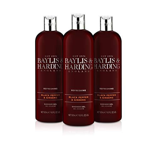 Baylis & Harding Jojoba/Seide/Mandelöl Feuchtigkeitspendende Duschcreme, 500 ml, 3er Pack (3 x 500 ml)