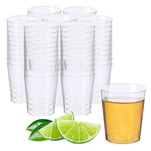 Matana - 500 Crystal Clear Multi-Use Plastic Shot Glasses - 2oz