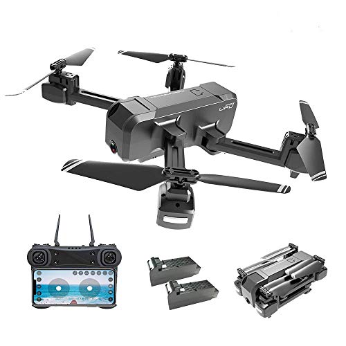 Drones with Camera for Adults 1080P, EMISK WiFi FPV Quadcopter Drone with Dual Cameras, RC Foldable Drones with HD Camera for Beginner, Altitude Hold, Follow Me, One Key Take Off/Landing, APP Control, Christmas Gift Choice