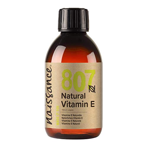Naissance Vitamin E Oil 250ml - Natural, Vegan, Cruelty Free, Hexane Free, No GMO