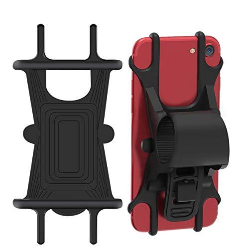Handyhalterung Fahrrad, Jack & Rose Fahrrad Handyhalter Silikon Verstellbarer Fahrradhalter Haltrung für iPhone/Samsung Galaxy, Ideal für Fahrrad, Mountainbike, Rennrad, Kinderwagen (4,5-6,0 Zoll)