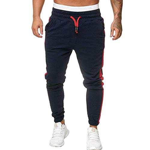 Momoxi Gestreifte Sporthose für Herren Marineblau XL Jumping Fitness Body and fit Outdoor Shop fitnessstudio in der nähe Sophia Thiel Fitness krafttraining Fitness Sophia Thiel Sporthose