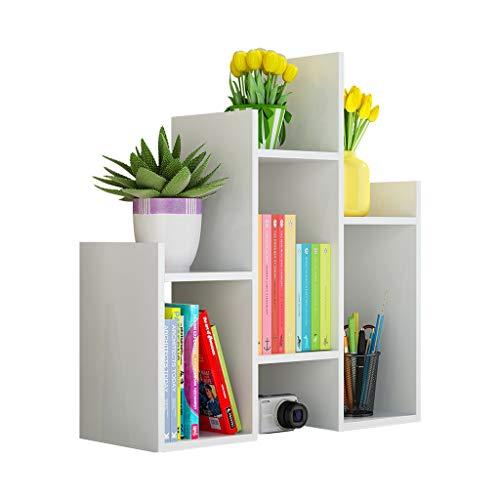Estantería para Libros Estantería de escritorio simple Bastidor de almacenamiento de múltiples capas Yamagata Espacio de almacenamiento grande / Soportes de carga / Ahorro de espacio for la oficina /