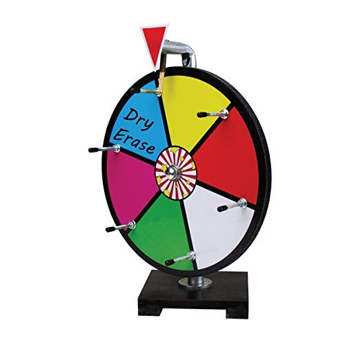 Entry Level Prize Wheel 12 Inch Colour Dry Erase | 6 Colour Slots Spinning Dry Erase Style wheel of fortune style Prize Wheel