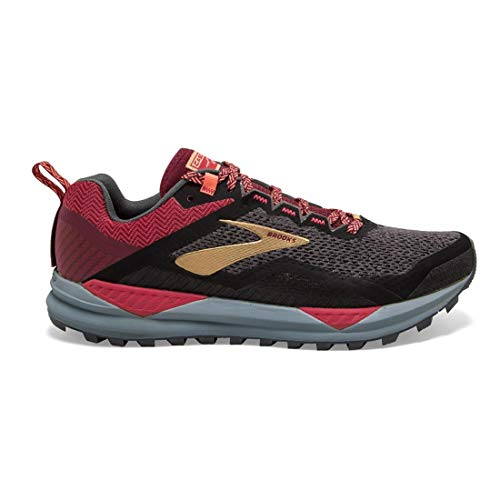 Brooks Cascadia 14 Black/Rumba Red/Coral 9.5