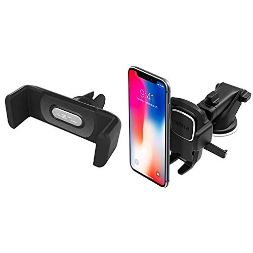Kenu Airframe+   Vent Car Phone Mount Holder   Black & iOttie Easy One Touch 4 Dash & Windshield Car Mount Phone Holder Desk Stand Pad & Mat for iPhone, Samsung, Moto, Huawei, Nokia, LG, Smartphones