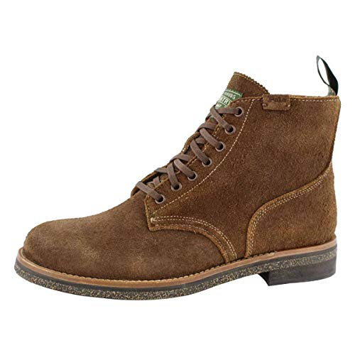 Polo Ralph Lauren Army Boot Chocolate Brown Roughout Suede 9 D (M)