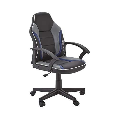 X Rocker Chicane LED 2.0 Wired Floor Rocker Gaming Chair, 29.13 x 16.54 x 26.77, Black