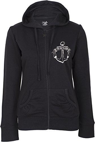 Küstenluder Damen Jacke Be The One Sailor Kapuzenjacke Schwarz M
