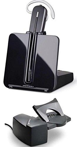 Plantronics- CS540 sistema de auricular inalámbrico profesional para comunicaciones por teléfonos digitales, Auricular DECT, Control de volumen y Mute, con base de carga y HL10 (Negro)
