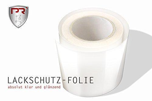 PR Folia Lackschutz-Folie Meterware TRANSPARENTE Steinschlagschutzfolie - Selbstklebend - (63 x 30 cm) Universal Schutzfolie für Ladekantenschutz Einstiege Motorhaube Schweller Autofolie