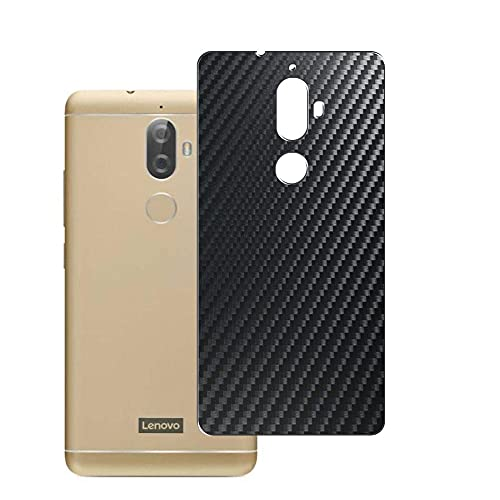 Vaxson 2-Pack Back Protector Film, compatible with Lenovo K8 Plus, Black Carbon Fiber Guard Cover Skin [Not Tempered Glass/Not Front Screen Protectors]