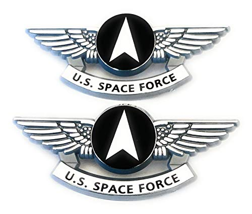 United States Space Force Kids Pilot Wings Military Pins Silver