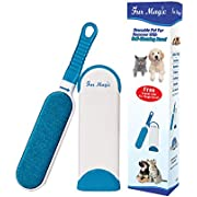 Fur Magic Pet Hair Remover Lint Brush With Self-Cleaning Base, Improved Handle, Double-sided Fur Brush for Dog and Cat