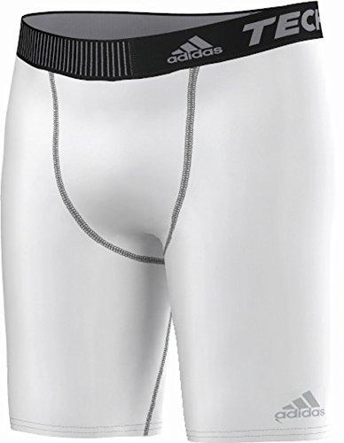 adidas Herren Short Techfit Base ST 9 Funktionsunterwäsch Tights, White, XS
