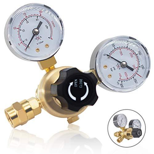 RX WELD Argon CO2 Regulators Gauges Gas Welding Regulator CGA580 Compatible with Miller Lincoln Mig Tig Weld 0-4500PSI / 0-10BAR