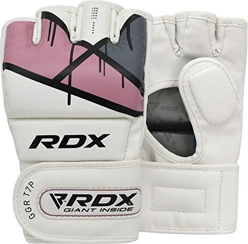 RDX MMA Kunstleder Handschuhe UFC Kamfsport sandsackhandschuhe Sparring Grappling Trainingshandschuhe Rosa, Gr. S