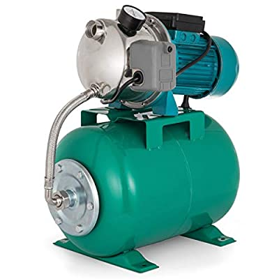 Happybuy Shallow Well Jet Pump and Tank 1 HP 750W Shallow Well Pump with Pressure Tank 740GPH Stainless Steel Jet Pump with Tank 1inch Automatic Booster System