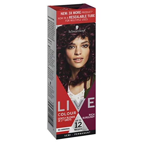 Schwarzkopf LIVE Colour Semi Permanent Hair Colour Rich Burgundy 75ml
