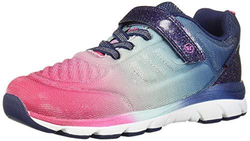 Stride Rite Girls Made2Play Cora Sneaker, Navy Multi, 2 Wide Little Kid
