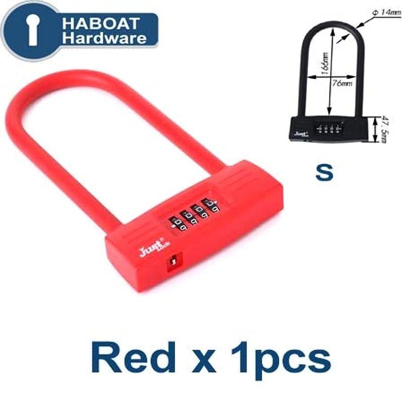 HA1007 Gate Combination Padlock 3 Digit Password Lock for Bike Garden Home Shop Office Sliding Glass Door Security Hardware i - (Color: Red S x 1pcs) eivmewba572939