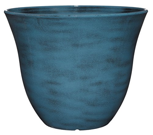 Classic Home and Garden Honeysuckle Planter, Patio Pot, 15' Blue Jean