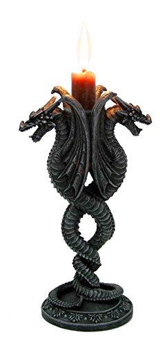 Drachen Kerzenhalter Kerzenständer Dragon Figur Gothic Drache