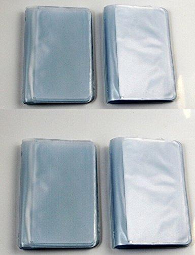 CHENGYIDA Set van 4-26 Pagina Plastic Vervangende Portemonnee Voegt Billfold portemonnees inzetstukken voor Afbeeldingen of Credit Cards