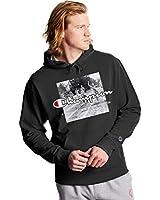 Champion Men's Powerblend Fleece Pullover Hoodie, Graphic, Black-586224, XX-Large